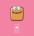 funky cartoon cute sliced bread character vector image vector image