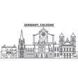 germany cologne line skyline vector image