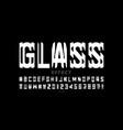 glass mirror style modern font design alphabet vector image vector image