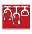 Glassware pub or bar icon vector image vector image