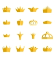 Gold crown clip art set vector image