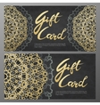 Gold gift certificates in the Arabic style vector image