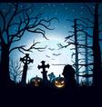 halloween background with pumpkins vector image