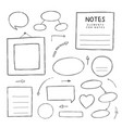 hand drawn notes vector image