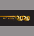 happy new year 2020 inscription is made of vector image vector image