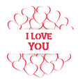 heart i love you handmade composition vector image vector image