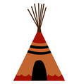 Indian wigwam on white background