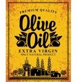 label for olive oil vector image