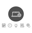 laptop computer icon notebook service sign vector image