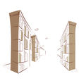 Library Bookshelf vector image