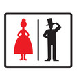 male and female icons isolated on white vector image