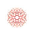 mandala texture abstract decoration background vector image vector image
