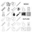 medicine and treatment monochrom icons in set vector image vector image