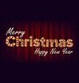merry christmas and happy new year sign vector image vector image