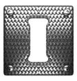 metal figure i vector image vector image