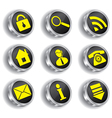 metal web icon set vector image