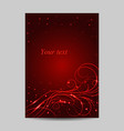 modern brochure cover design with swirl pattern