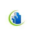 modern building cityscape company logo vector image vector image