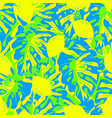 pattern with lemon and tropical leaves vector image vector image