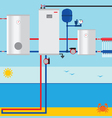 Sea lake or pond source heat pump vector image vector image