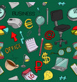 seamless pattern of office supplies vector image