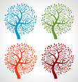 Set of colorful season tree icons vector | Price: 1 Credit (USD $1)