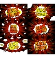 Set of comic web banners for black friday vector image vector image