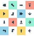 set simple cursor icons vector image