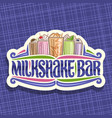 signage for milkshake bar vector image vector image