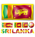 Sri Lanka flag in different designs vector image vector image