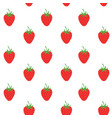 strawberry pattern background fruit vector image