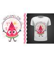 sweet watermelon - idea for print t-shirt vector image