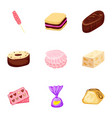 toffee candy icon set cartoon style vector image vector image