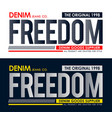 typography freedom sport t-shirt print vector image vector image