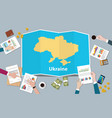 ukraine economy country growth nation team vector image vector image