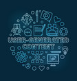 user-generated content round outline blue vector image vector image