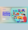 video conference 19 vector image vector image