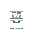 web design icon thin outline style from design ui vector image vector image