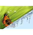 winter and spring vector image vector image