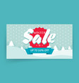 winter sale or seasonal discount banner design vector image vector image