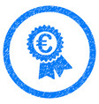 euro award seal rounded icon rubber stamp vector image