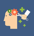 Psychology psychotherapy mental healing concept vector image