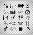wine and sommelier icons vector image