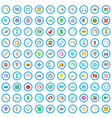 100 loading icons set cartoon style vector image vector image