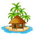 A small house in the island vector image vector image