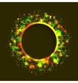 Abstract green and gold round frame vector image vector image