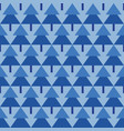 abstract spruce trees geometric pattern vector image
