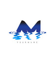 am a m letter logo design with water effect