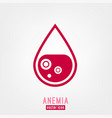 anemia and hemophilia icon vector image vector image