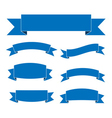 Blue ribbon banners set blank for decoration vector image vector image